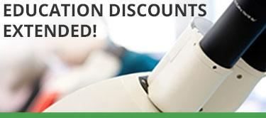education discounts extended